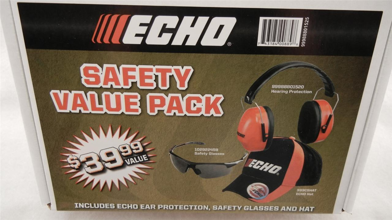 ECHO SAFETY VALUE PACK, HAT, HEARING PROTECTION, SAFETY GLASSES